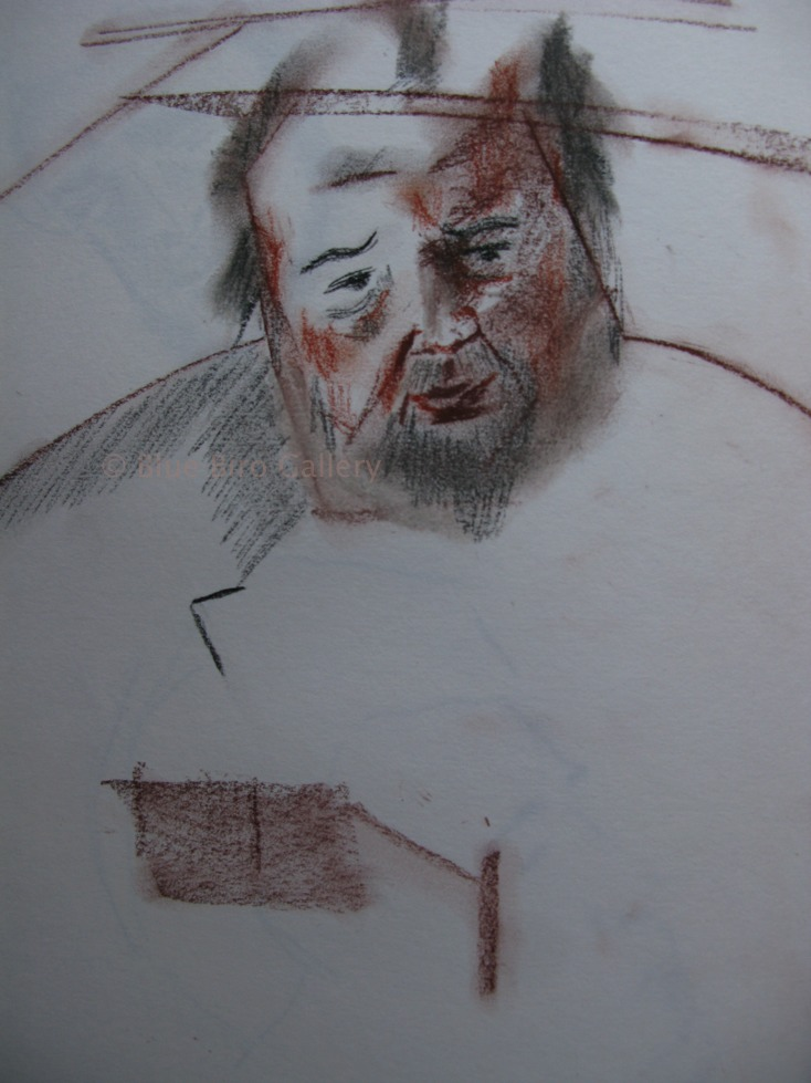 Sir Peter Hall sketch by his daughter