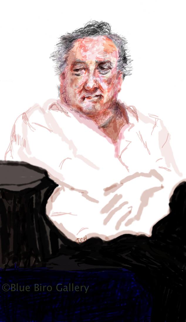 Desmond Barrit- rehearsing Falstaff