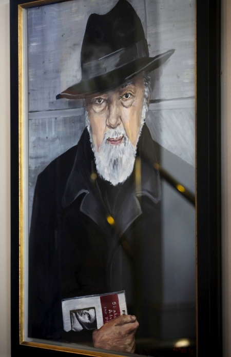 Portrait of Sir Peter Hall by Artist Jenny Hall